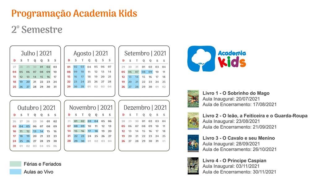 Programação Academia Kids
